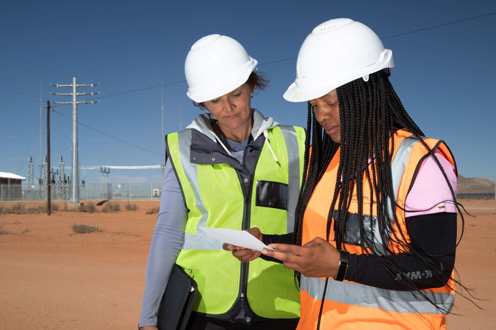solar plant women ppe south africa
