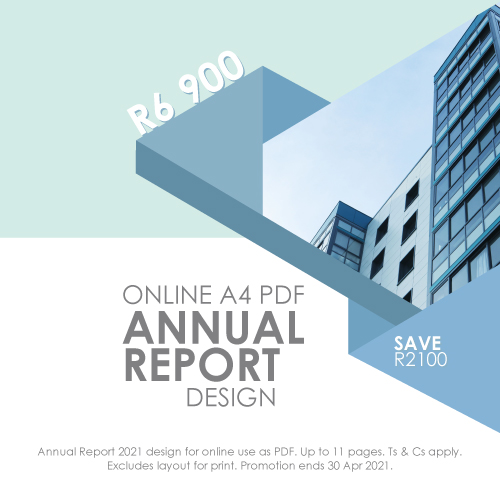 annual report design specials south africa pretoria